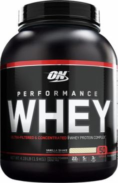 Optimum Nutrition Performance Whey Vanilla Shake 4 Lbs. OPT760012 Vanilla Shake - Ultra-Filtered & Concentrated!