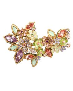 Naomi Floral Cluster Pin, MULTI COLORS - Jay Strongwater