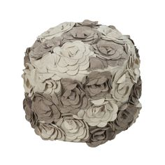 Wool Flower Pouf - l
