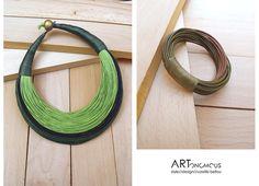 Handmade leather jewelry / artonomous.gr