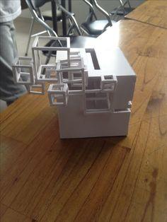 Light Architecture, Abstract Sculpture, 3d Design, Mockup, Paper Art, Origami, Fractals, Cubes, Architecture
