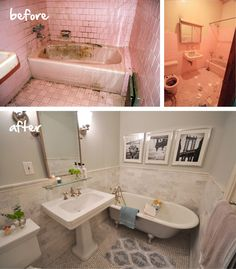Great before and after bathroom makeover.