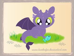Cute Toothless by ~landesfes on deviantART