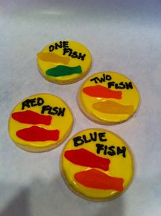 Dr. Suess - except being the better teacher that I am blue fish cookie would actually have freaking blue fish