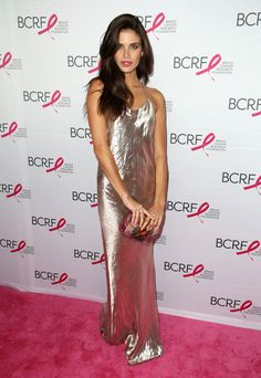 Thanks to Sara Sampaio, foil maxi dresses are our new obsession <3