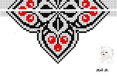 This Pin was discovered by ilo Bead Loom Patterns, Beading Patterns, Stitch Patterns, Beaded Necklace Patterns, Beaded Choker, Beadwork Designs, Pixel Pattern, Native American Beading, Beading Tutorials