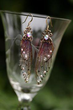 fairy wing earrings ETSY