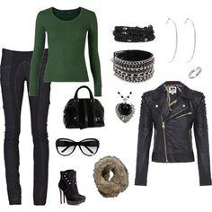 Biker Girl Chic Like it, minus the boots.
