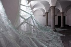 Artists Floods Monastery with Waves of Glass