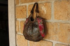 Large Mexican Tote with Hand Embroidered Vintage by EthnicMaya