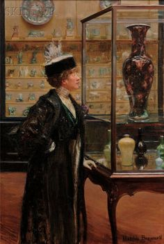 Matilda Auchincloss Brownell (1871-1966) :  Girl in the Chinese Porcelain Room.