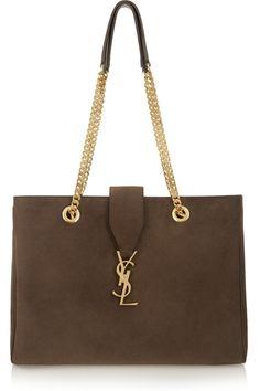 Saint Laurent Monogramme suede shoulder bag NET-A-PORTER.COM