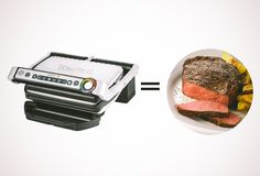 T-Fal Optigrill ... place what you are cooking in it, tell it what it is and it will grill it to perfection ... really cool ...