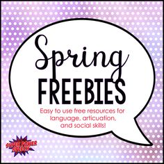 We all love freebies! Here I have compiled some great looking spring freebies to keep you busy throughout the season!
