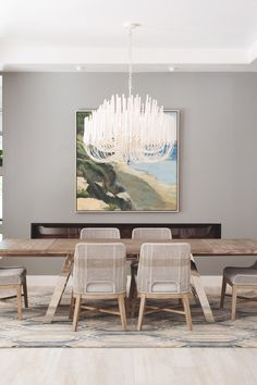 Mahfouz Dining room - Contemporary - Dining Room - San Diego - by Savvy Interiors Dining Room, Dining Table, Modern Lighting, San Diego, Interiors, Lights, Contemporary, Furniture, Home Decor