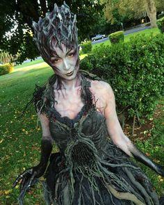 Root of Evil Makeup habe ich heute bei Shini gemacht # M.Makeup Root of Evil Makeup I Evil Makeup, Sfx Makeup, Dryad Costume, Wendigo Costume, Tree Costume, Larp, Halloween Makeup, Halloween Costumes, Halloween 2017