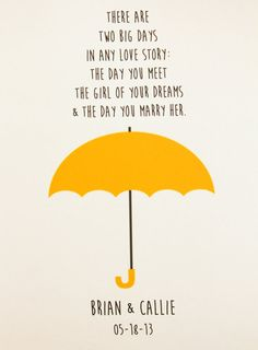 Yellow Umbrella Print -- How I Met Your Mother (HIMYM), Customizable on Etsy, $9.99
