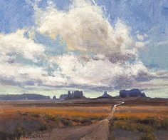 Clouds Over Monument Valley by Kim Casebeer Oil ~ 10 x 12