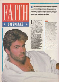 a720a9f839 Faith  George Michael speaks My One And Only
