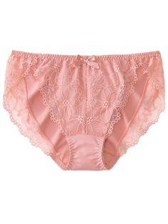 NWT Wacoal Fragile Drama Nude Embroidered Floral Sheer Mesh Bikini Panties S