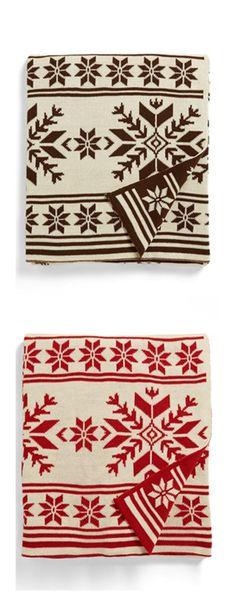 snowflake throws - i'll take one in each color, please! http://rstyle.me/n/b9jyun2bn