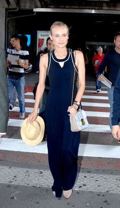 Diane Kruger always travels in style #cannes