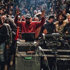 Kanye West at the Yeezy Season 3 Presentation