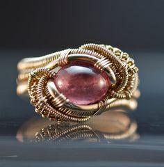 Rhodochrosite Ring In Gold by Benjamin Claus