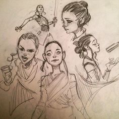 Rey sketches by Ahmed Aldoori
