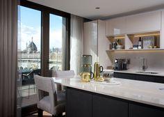 Luxury modern kitchen with a view