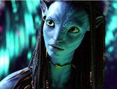 "Neytiri played by Zoe Saldana in ""Avatar"""