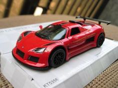 Mainan Murah Diecast Miniatur Mobil Gumpert Apolo Sport Merah - Kinsmart 1:32
