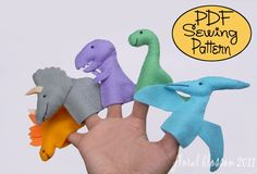 Digital Pattern: Prehistoric Friends Felt Finger Puppets