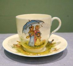 RARE Staffordshire Victorian Doll Child's Nursery Tea Set Hand Painted c.1873 | eBay