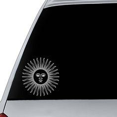 Car Decal Sun | Laptop Decal Sun | Phone Decal Sun | Sun Decal for Mug | Tumbler Decal Sun | Computer Decal | Car Sticker with Sun