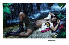 LUMA GROTHE & MARLON TEIXEIRA FOR DSQUARED2 SPRING 2014 BY PHOTOGRAPHERS MERT & MARCUS