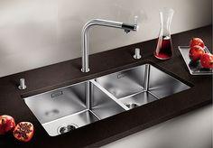 Stålvasker - Nibu Steel Kitchen Sink, Kitchen Sink Design, Kitchen Mixer, Stainless Steel Kitchen, Kitchen Appliances, Undermount Stainless Steel Sink, Undermount Sink, Sink Taps, Basin Sink