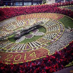 The floral clock.