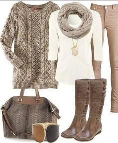Obsessed with winter neutrals! Love the taupes, ivories and camels together.