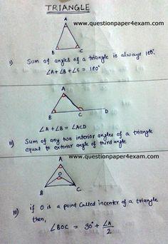 Math Measurement, Math Vocabulary, Math Fractions, Mental Math Tricks, Maths Tricks, Math Formula Chart, Triangle Math, Maths Exam, Math Charts