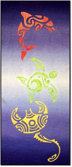 Reverse Tribal Applique by Aloha Quilt Designs www.alohaquiltdesigns.com