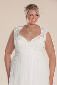Lace Plus Size Wedding Dress With Sleeves The Lillian Grace