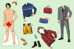 Say Bonjour to This Justin Trudeau Paper Doll -- The Cut   #marketing