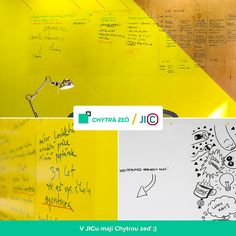 Whiteboard Paint Clear on a yellow wall Yellow Walls, Surface, Let It Be, Whiteboard, Czech Republic, Create, Painting, Design, Erase Board