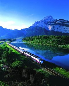 Take the train from Ontario to Jasper National Park, the biggest NP in the Canadian Rockies. Alberta. Canada.