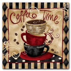 coffee decor for kitchen | Kitchen: Wall Decoration Coffee Decor For Kitchen, Coffee Café Look ...