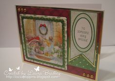 Bebunni from Crafter's Companion: #Christmas Topper from topper sheet Sentiment from CD, 6X6 papers