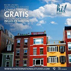 Aprende inglés en #Boston #EstadosUnidos y recibe un mes adicional completamente GRATIS. Contáctanos: www.hiinternationalstudies.com - PBX: (+571) 749 8981 - WhatsApp: (+57) 3014892307