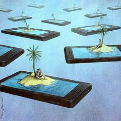 65 Satirical Illustrations Show Our Addiction To Technology The group is willing to collaborate effortlessly in reading posts whenever they want to. Satire, Political Art, Political Cartoons, Satirical Cartoons, Technology Addiction, Pictures With Deep Meaning, Satirical Illustrations, Plakat Design, Smartphone