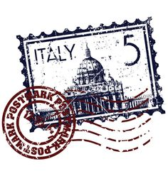 Vector illustration of single isolated Italy stamp icon Vector Art Travel Stamp, Italy Images, Decoupage Vintage, Airmail Envelopes, Thinking Day, Stencil Art, Art For Art Sake, Planner, Travel Scrapbook